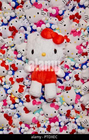Olympia, London, UK. 9th October, 2018. Hello Kitty Toys,Brand Licensing Europe,Olympia,London.UK Credit: michael melia/Alamy Live News - Stock Photo