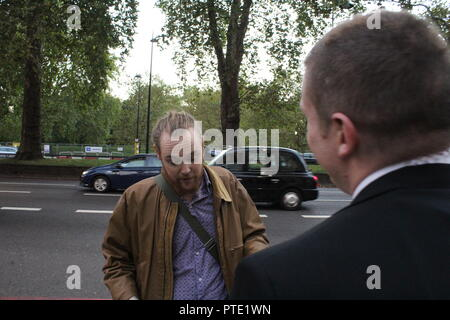 London, UK. 9th Oct 2018. London Says No To Climate Criminals protest - The Dorchester - Oil & Money 2018 - London Says No To Climate Criminals Credit: Jason Murphy/Alamy Live News - Stock Photo