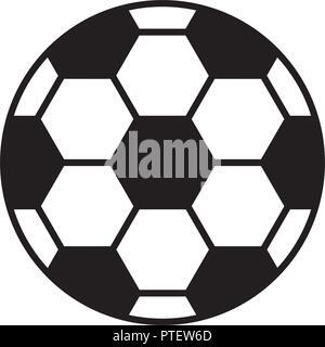soccer football sport ball icon - Stock Photo