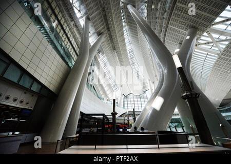 Hong Kong West Kowloon railway station. - Stock Photo