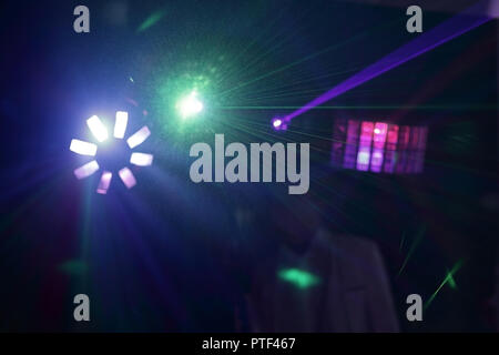 background image of a DJ in a nightclub.photo with copy space - Stock Photo
