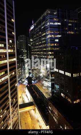 JP Morgan building in Hong Kong. - Stock Photo