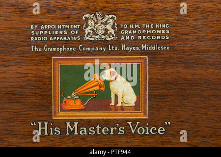 Old Hmv His Masters Voice Logo With By Appointment To Hm His Majesty