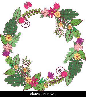 Flowera wreath isolated - Stock Photo