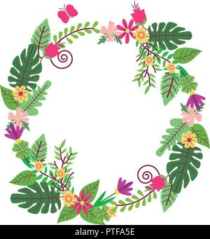 Wreath flowers isolated - Stock Photo