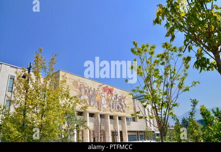 National History Museum (Tirana) albania exterior view in summer - Stock Photo