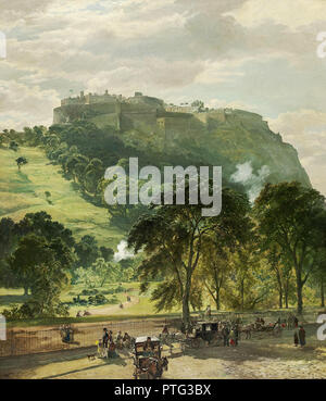 Bough  Samuel - Edinburgh Castle from Princes Street - Stock Photo