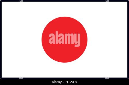 Japan flag emblem - Stock Photo