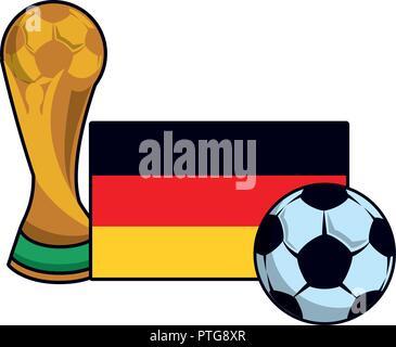 Germany flag emblem soccer - Stock Photo
