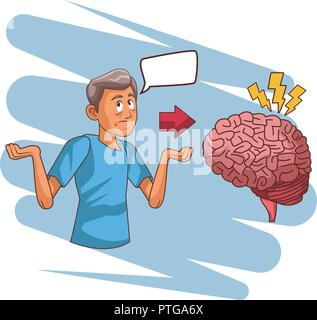 Alzheimer brain disease - Stock Photo