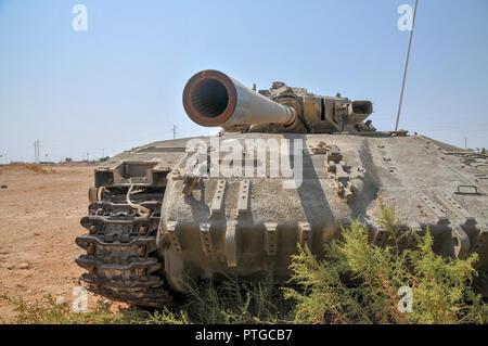 Israeli Merkava tank. Close up - Stock Photo