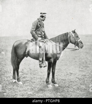 General The Honourable Sir George Cathcart, on horseback during the Crimean War, by Roger Fenton.  Cathcart was killed during the Battle of Inkerman, 5 November 1854 - Stock Photo