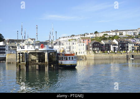 Boats and ferries on the River Fal at Falmouth in Cornwall, England - Stock Photo