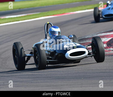 Steve Futter, Lotus 20, FJHRA, HSCC, Championship for pre-64 Front and Rear Engined Formula Juniors, Donington Historic Festival, 2018, motor racing,  - Stock Photo