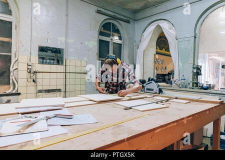 craftsman at work in his workshop