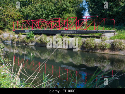 Poyntz Bridge on the Chichester Ship Canal in Chichester, West Sussex, England, UK. - Stock Photo