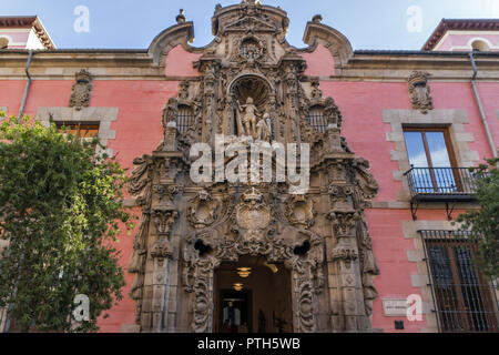 MADRID, SPAIN - JANUARY 24, 2018: Morning view of Museum of History of Madrid in City of Madrid, Spain - Stock Photo