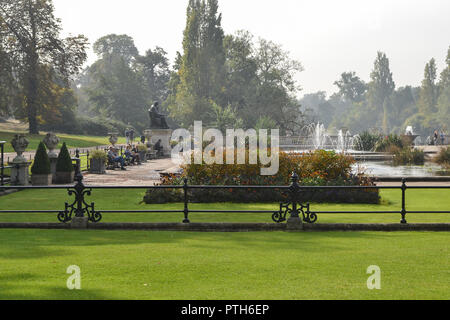 View of Hyde Park on September 20, 2014 in London, UK. - Stock Photo