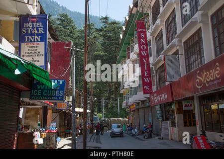 Manali Mall - Himachal Pradesh, India - Stock Photo