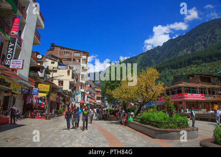 Manali Mall - Himachal Pradesh, India - Stock Photo