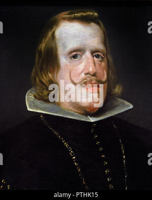 Portrait of King Philip IV of Spain  Diego Velázquez (1599–1660) 17th, century, Spain, Spanish, - Stock Photo