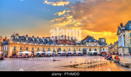 Building in front of the Ducal Palace in Dijon, France - Stock Photo