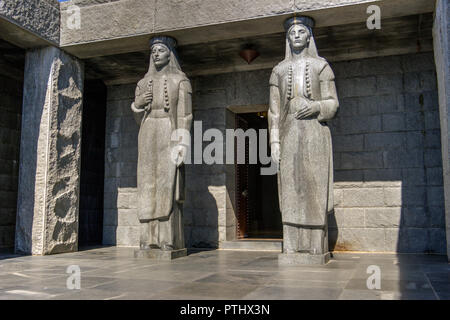 LOVCEN National Park, Montenegro - Entrance to the mausoleum of Petar II Petrovic Njegos (1813-1851) Montenegrin philosopher, poet and ruler - Stock Photo