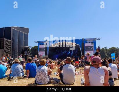 Latitude festival in Henham Park. - Stock Photo