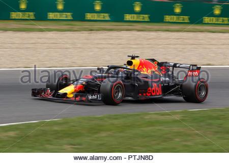 Francorchamps, Belgium - Aug 24, 2018:   Daniel Ricciardo of Red Bull during the 2018 Formula 1 Johnnie Walker Belgian Grand Prix 24 - 26 august in Sp - Stock Photo