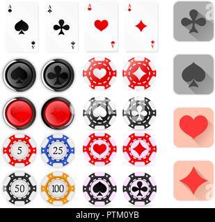 Casino chips - Stock Photo