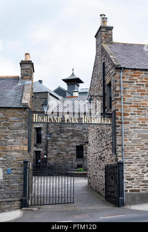 Entrance to Whisky Distillery Highland Park, Kirkwall, Mainland, Orkney Islands, Scotland, Great Britain - Stock Photo