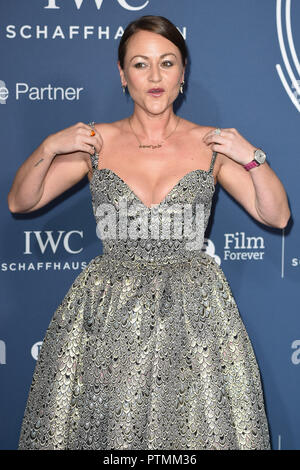 London, UK. October 09, 2018: Jaime Winstone arriving for the 2018 IWC Schaffhausen Gala Dinner in Honour of the BFI at the Electric Light Station, London. Picture: Steve Vas/Featureflash Credit: Paul Smith/Alamy Live News - Stock Photo