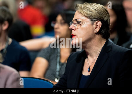 Eddie Izzard at the Labour Party annual conference 2018, Liverpool. - Stock Photo