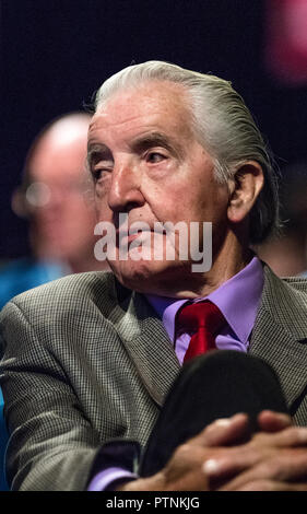 Dennis Skinner Labour party M.P. for Bolsover at the Labour Party annual conference 2018. - Stock Photo