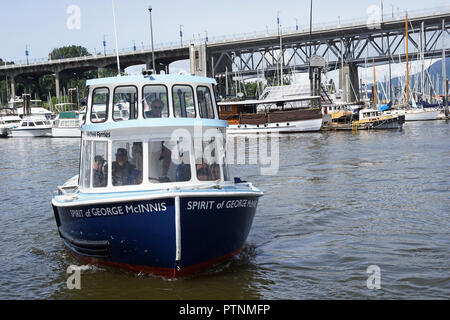 Ferry on False Creek, Vancouver, Canada - Stock Photo