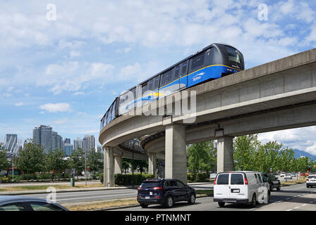 SkyTrain, Mainstreet, Vancouver, Canada - Stock Photo