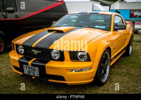 Ford Mustang at Stonham Barns American Car Show 2018 - Stock Photo