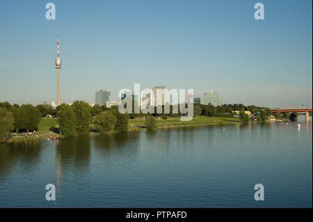Wien, Neue Donau, Donauturm, Donaucity - Stock Photo