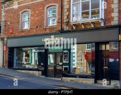 Wincanton, a small town in South Somerset England UK Lovington bakery - Stock Photo