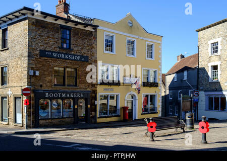 Wincanton, a small town in South Somerset England UK Post office - Stock Photo