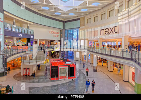 Manchester Arndale Centre shopping mall in Manchester city centre, Greater Manchester, England. UK. - Stock Photo