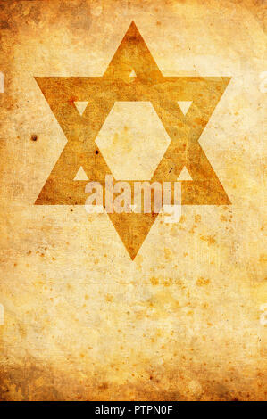 star of David, modern symbol of Judaism - Stock Photo