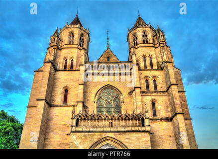 Saint Benignus Cathedral of Dijon in France - Stock Photo