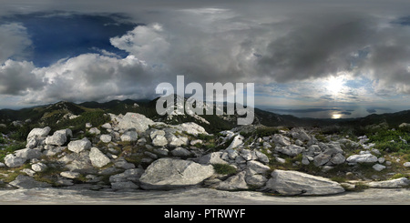 Balinovac peak (1601m), Sjeverni Velebit National Park, Croatia - Stock Photo