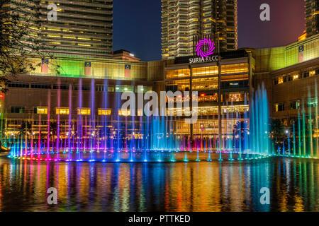 Suria KLCC shopping center, Kuala Lumpur, Malaysia Stock Photo
