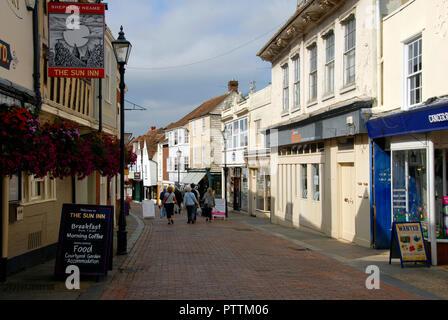 The Sun Inn, West Street, Faversham, Kent, England - Stock Photo