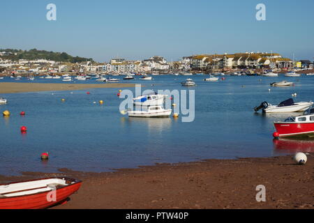 Boats on the Teign Estuary, Devon - Stock Photo