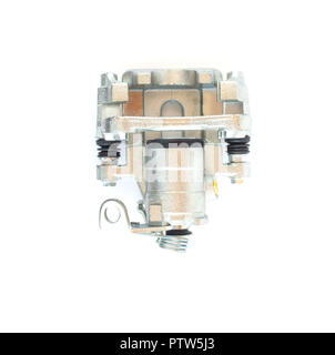 Car brake caliper on white background, isolate - Stock Photo