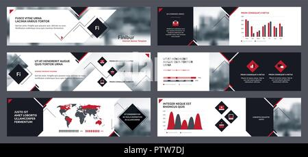 internet web banner templates set with shadow on transparent