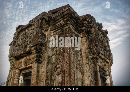 Old Phnom Bekhang temple in Siem Reap, Cambodia - Stock Photo